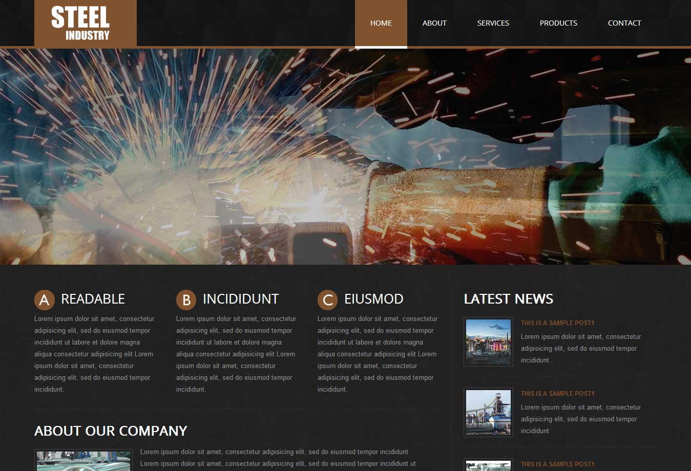 钢铁企业网站模版 网站制作 南昌网站建设 南昌网站设计 南昌网站优化 南昌网站建设公司