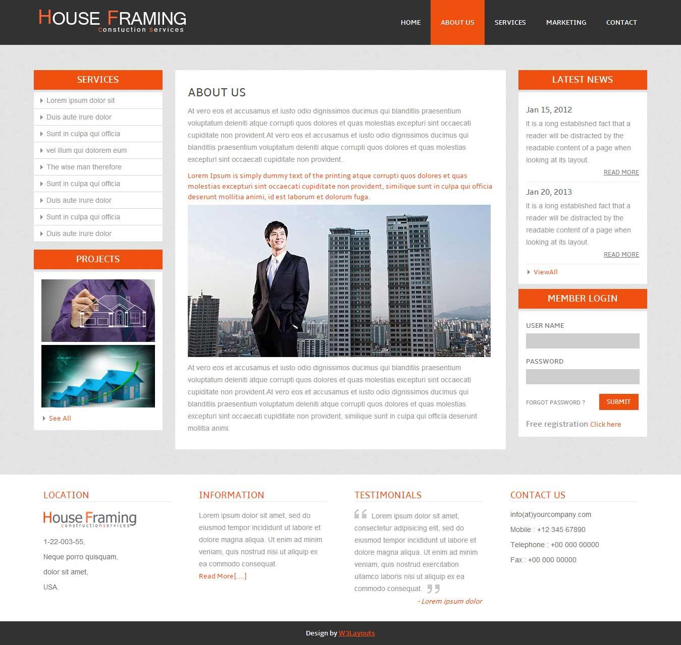 南昌网站设计房屋框架免费模板